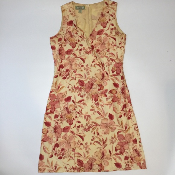 Tommy Bahama Dresses & Skirts - Tommy Bahama Silk Linen Dress Sz 6 Peach Red